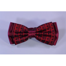 Bow tie - Red with black motifs