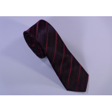 Classical tie with red and black strips