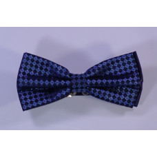 Bow tie with blue drawing