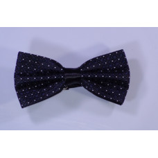 Black Bow Tie with white and blue points
