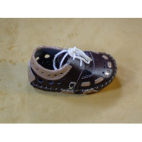 Bicolor Baby Shoes I Brown