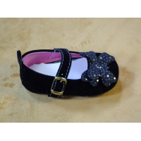 Velvet Shoes for Baby Girl - Black