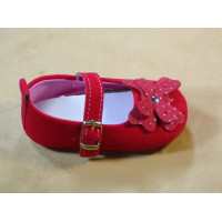 Red Velvet Shoes for Baby Girl