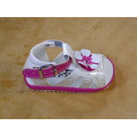 White Sandal for Baby-girl with Flower