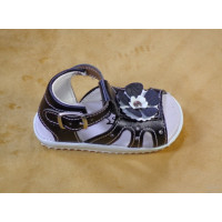 Baby Summer Sandal - Black and white