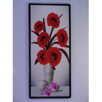 Wall decoration chart - Red flowers