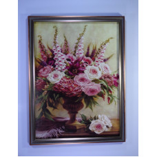 Wall chart with flowers