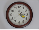 wall clock brown