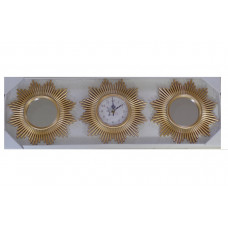 Wall decorative clock and wall decorative golden mirrors